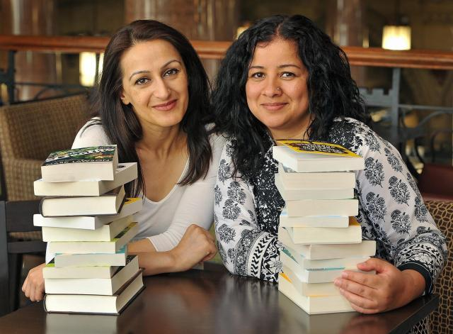 Bradford Telegraph and Argus: Syima Aslam and Irna Qureshi, organising the Bradford Literature Festival after it received funding from the Arts Council.
