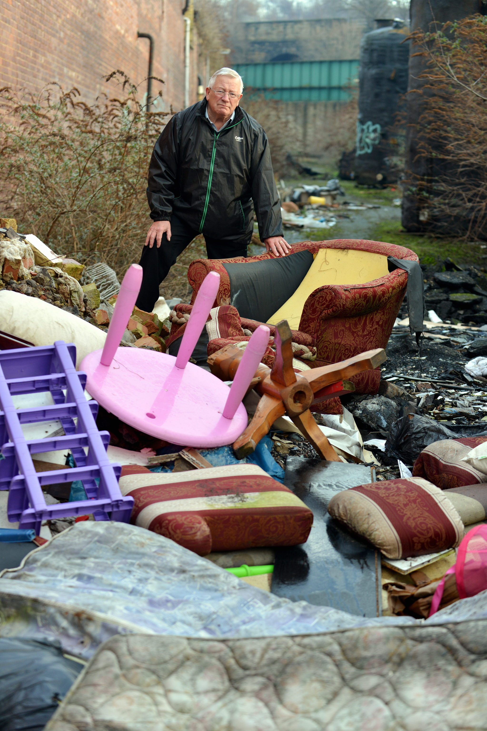 bradford council sofa removal extra long slipcovers to use new powers hit fly tippers with fixed councillor mike ellis pictured at a tipping site in 2014