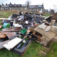 Bradford Council Sofa Removal Serta Microfiber And Loveseat Demands For Action Over Horrendous Fly Tipped Rubbish In Telegraph Argus