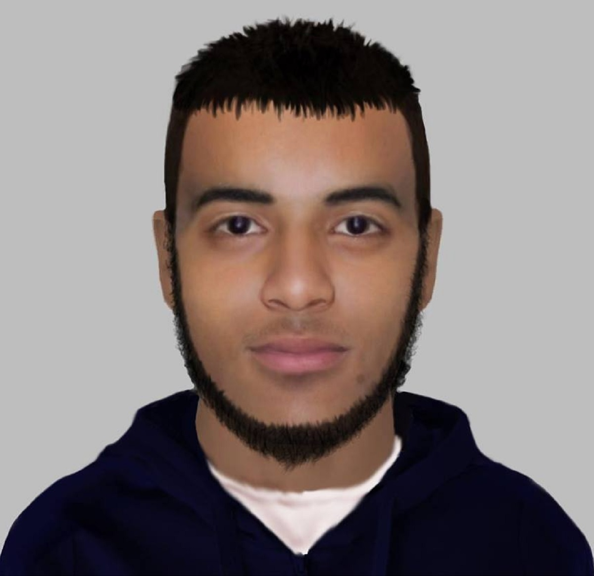 An e-fit released of a man police want to talk to after an indecent exposure in Shipley