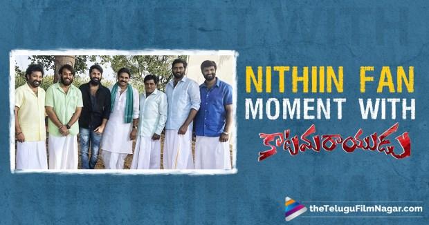 Nithiin Katamarayudu sets, nithin with pawan kalyan