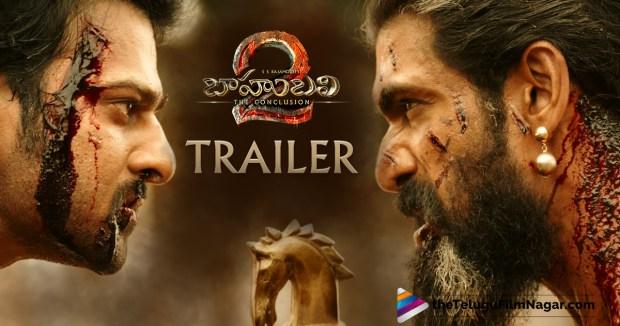 Baahubali 2 Trailer Out,Telugu Filmnagar,Baahubali 2 The Conclusion Trailer,Baahubali 2 Official Trailer,Baahubali 2 Theatrical Trailer,Baahubali Part 2 Trailer