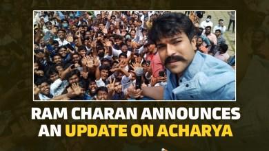 Ram Charan Announces An Update On Acharya Movie