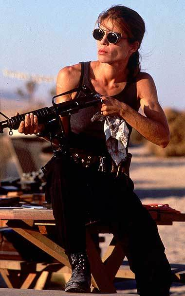 Linda Hamilton as Sarah Connor