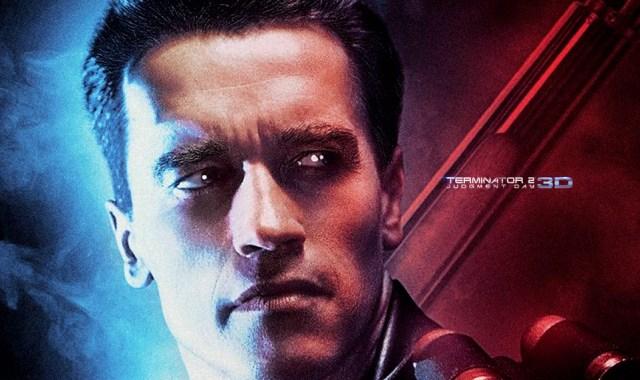 Terminator 2 3D Arnold Schwarzenegger T-800 Poster