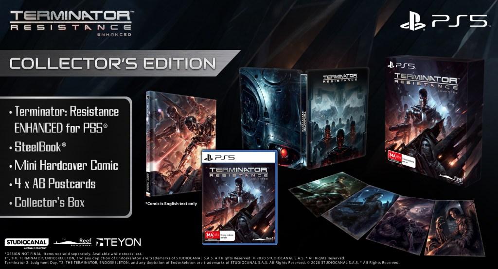 Terminator: Resistance ENHANCED PLAYSTATION 5 ESRB Packshot PS5 Terminator Glamshot OFLC
