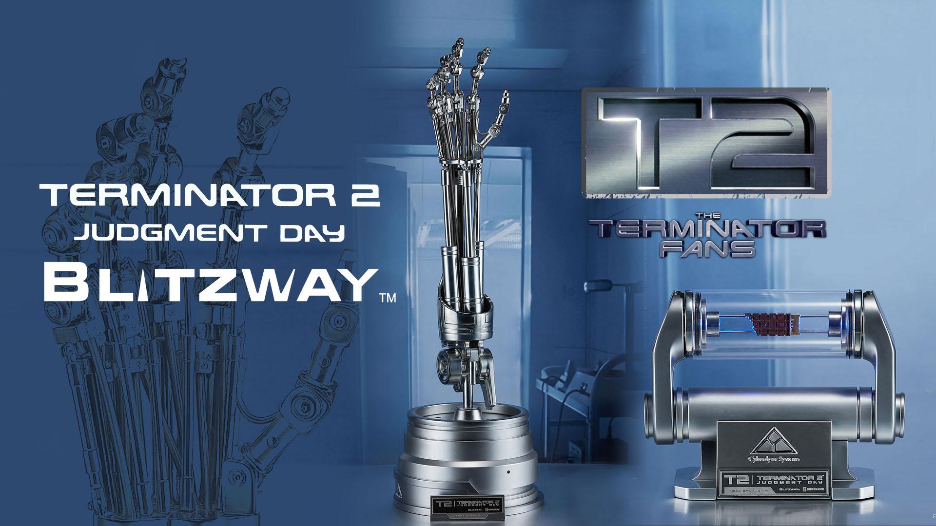 Blitzway Terminator 2 T-800 ENDOSKELETON ARM LIFE-SIZE STATUE Shipping
