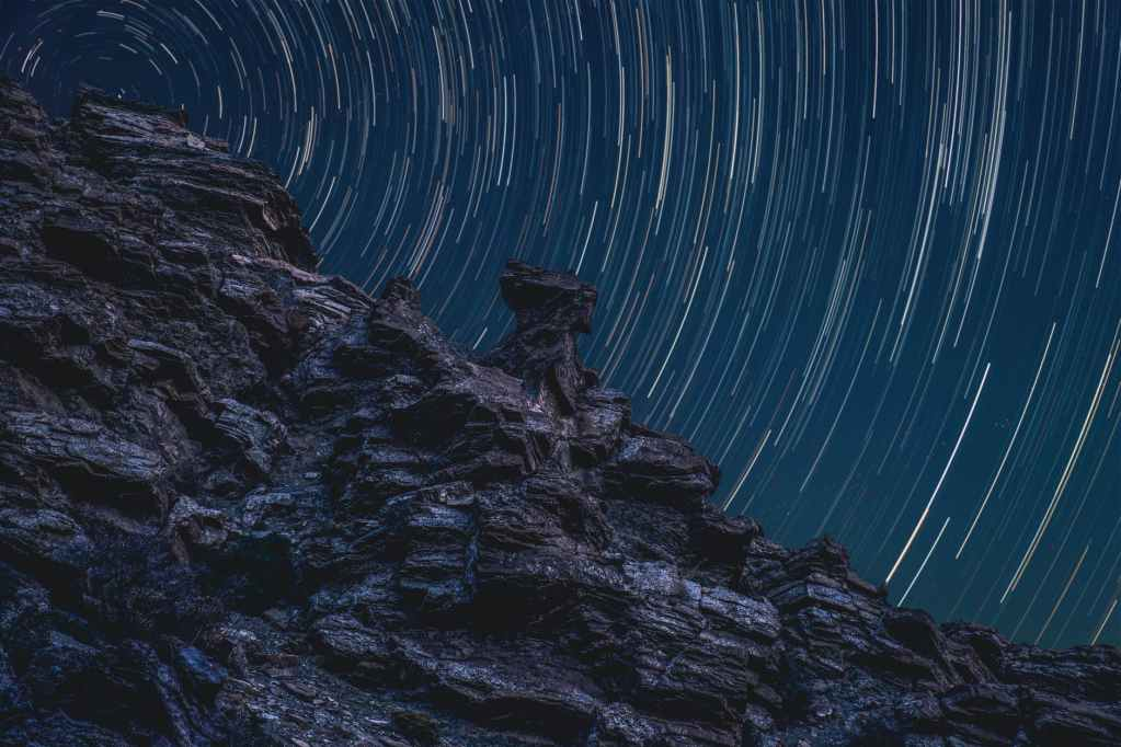 time lapse photography of stars in sky