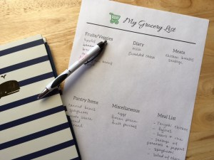 Meal Planning + Grocery List Freebie!