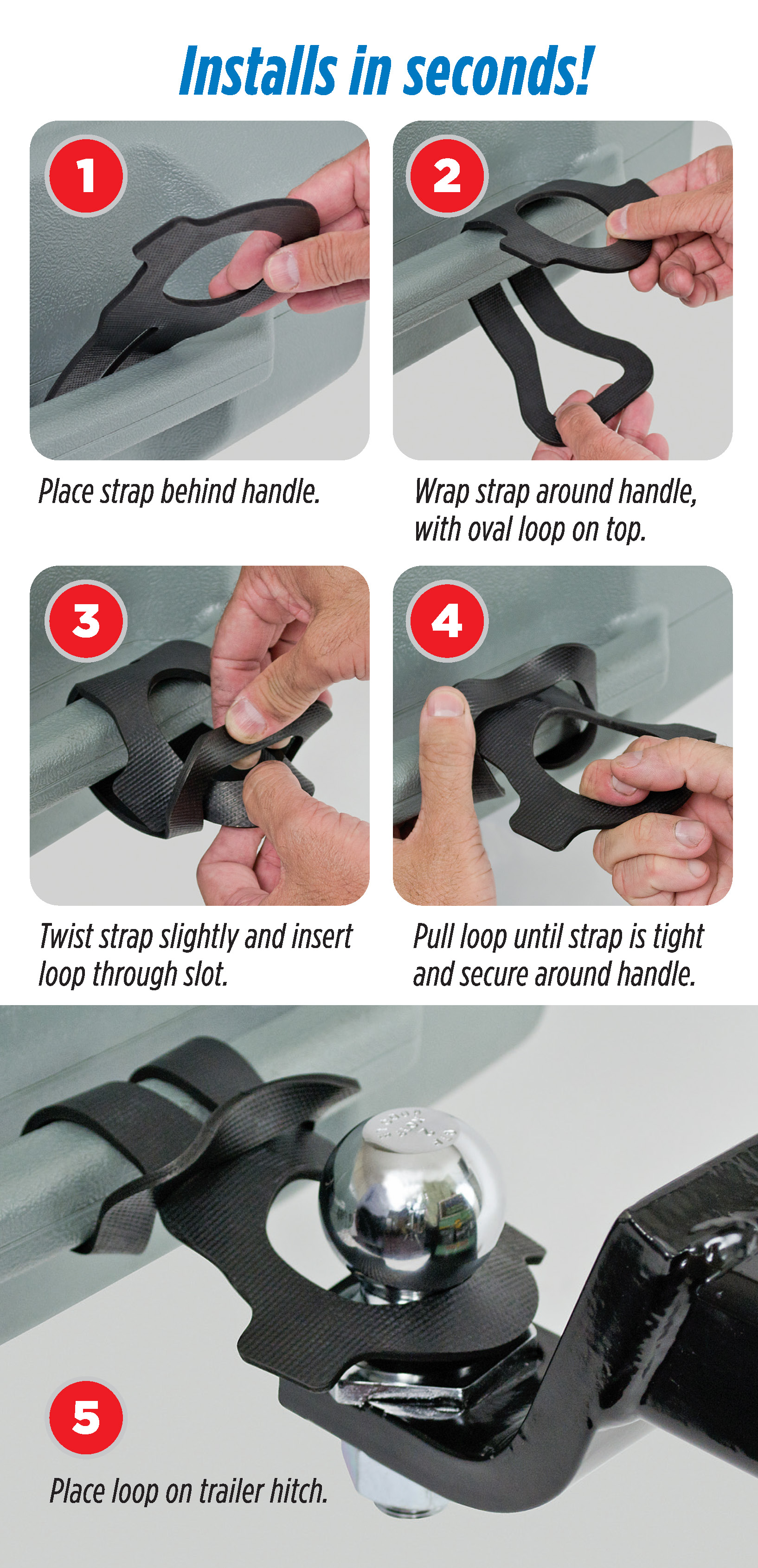 hight resolution of printable tow strap instruction card