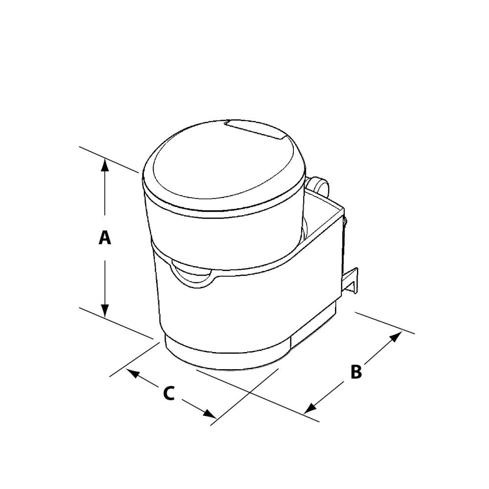 medium resolution of c223 s cassette toilet dimensions