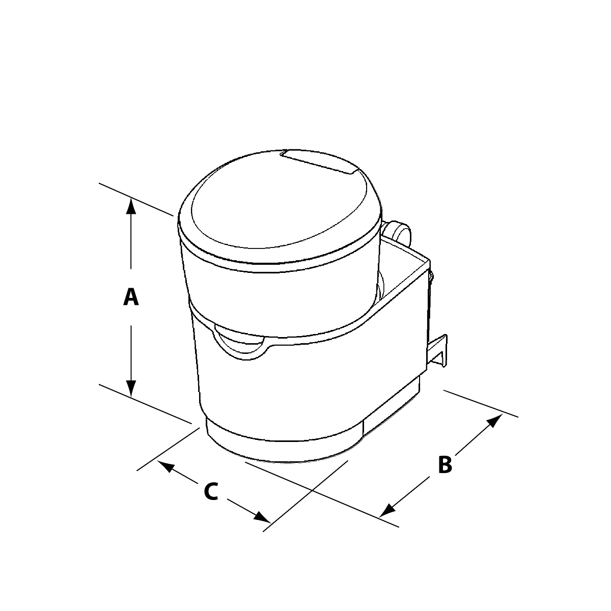 hight resolution of c223 s cassette toilet dimensions