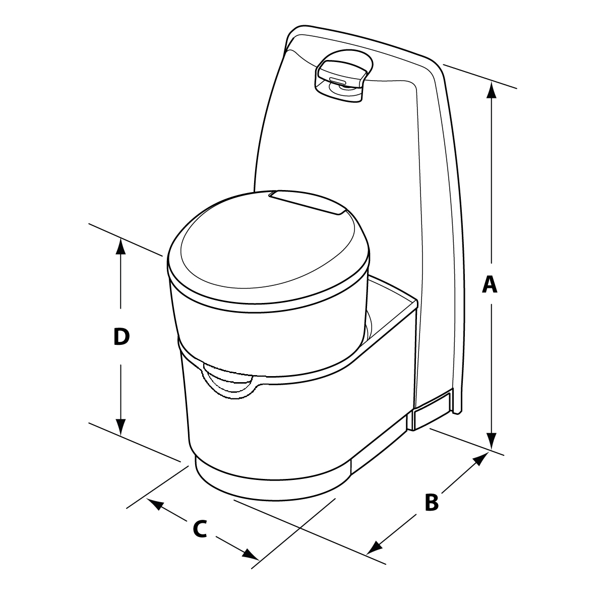 hight resolution of  the valve and seal of your cassette toilet as these will damage the seals and surfaces causing odors to escape from holding tanks