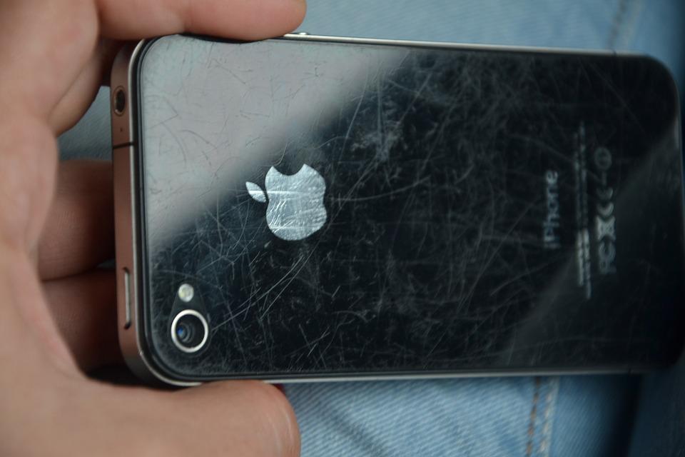 scratched phone screen