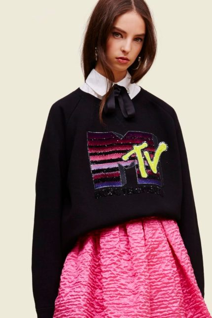 MTV x Marc Jacobs Long-Sleeve Crewneck Sweatshirt