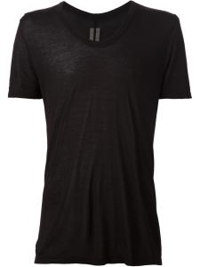 Rick Owens Men's Black V-neck T-Shirt