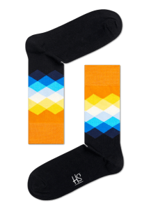 Faded Diamond Happy Socks