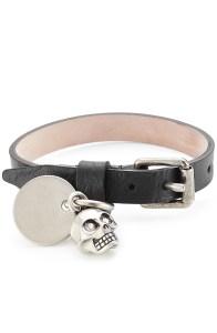 ALEXANDER MCQUEEN Embellished Leather Wrap Bracelet