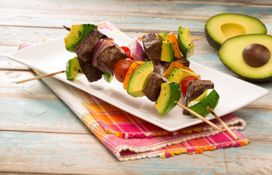 Grilled Steak and Avocado Kebabs