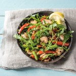 Warm Shrimp and Farro Salad