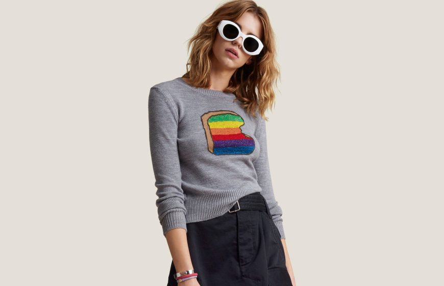 Marc Jacobs Long-Sleeve Crewneck Toast Sweater