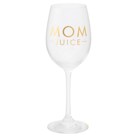 Wine glass mom juice