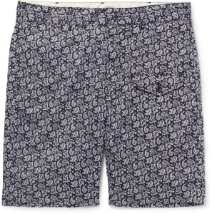 Engineered Garments Ghurka Paisley-Print Cotton-Voile Shorts
