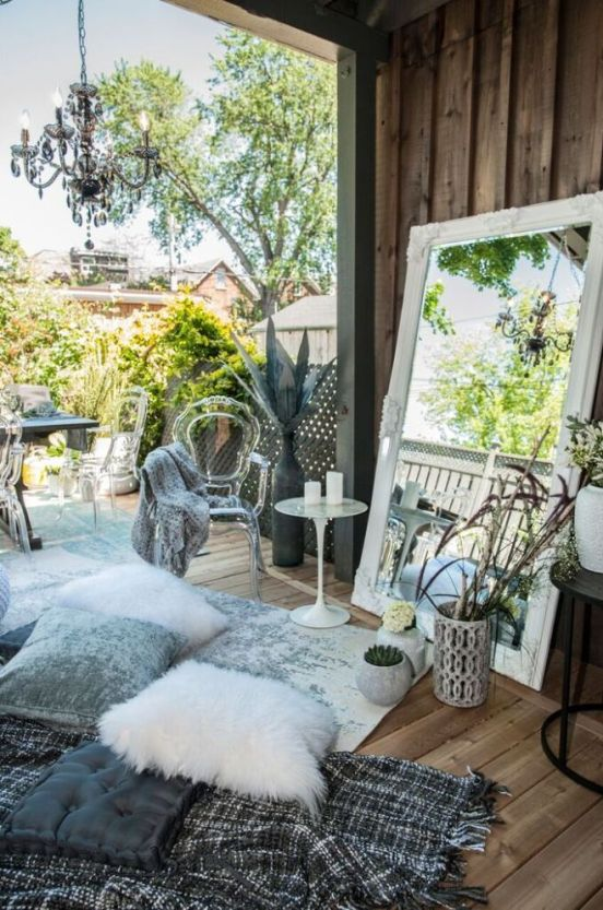 Urban Barn pillows, mirror and throw