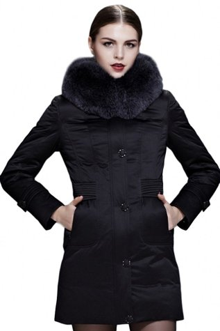 Fast Sister Women's Stylish Goose Down Jacket Thickened Down Coat