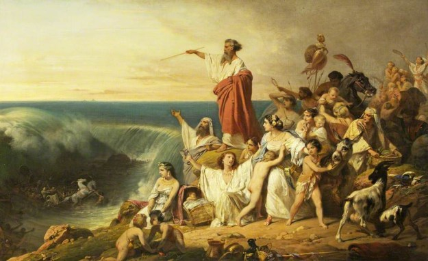 The Children of Israel Crossing the Red Sea by Frédéric Schopin, via Bristol Museum and Art Gallery.