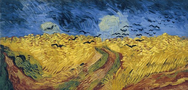 Wheatfield with Crows by Vincent Van Gogh via Van Gogh Museum.