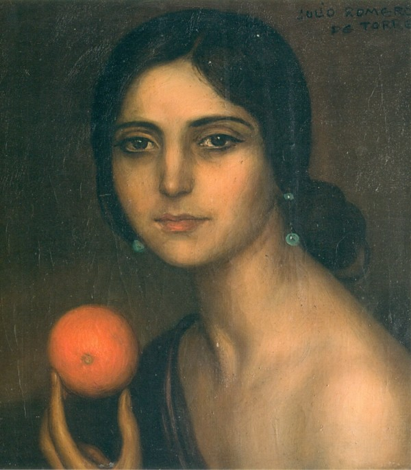 Gypsy of the Orange by Julio Romero de Torres.