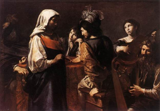 The Fortune Teller by Valentin Boulogne. Image via Web Gallery of Art.
