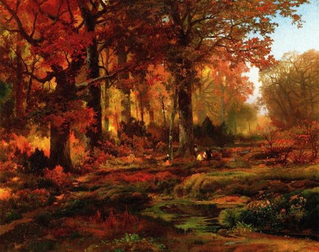 Cresheim Glen, Wissahickon, Autumn by Thomas Moran.