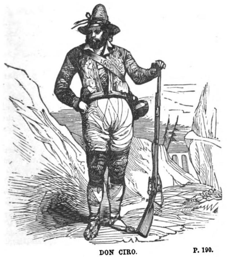 Imaginative illustration of Don Ciro in The Panorama of Nations (1852).