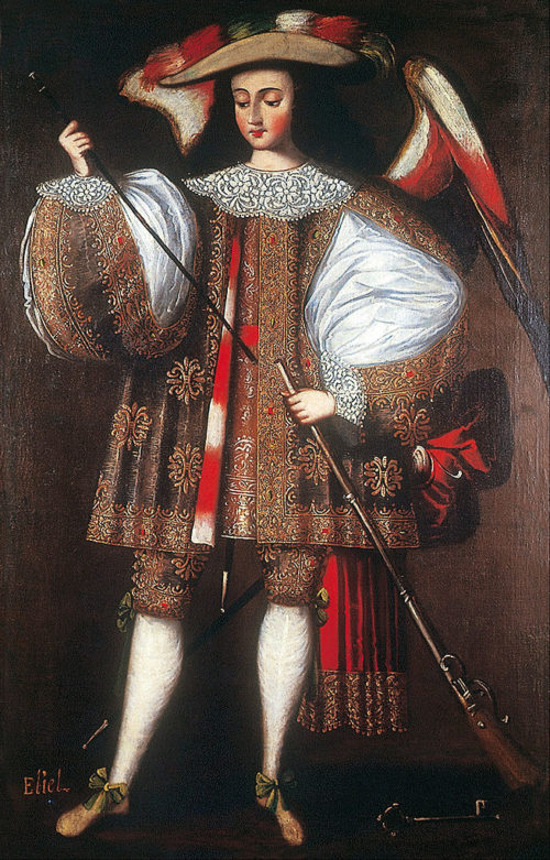 Archangel Eliel with Harquebus, sixteenth-century Cuzco School. Photo via Wikimedia Commons.