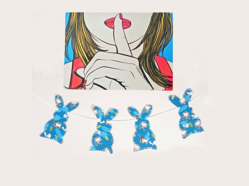 The Thin Thread Easter Bunny Fabric Banner Diy