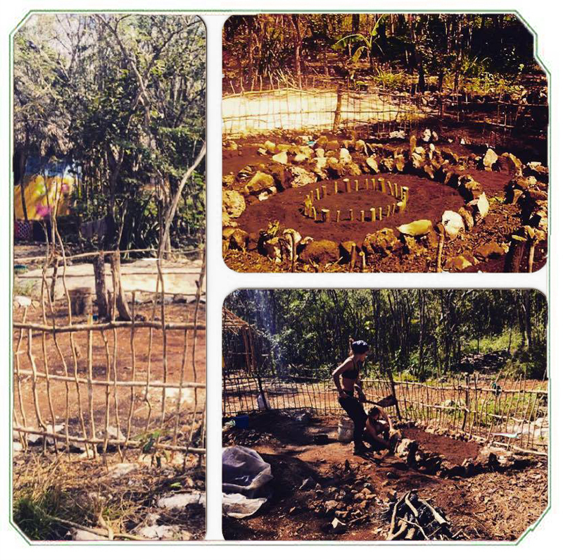Finishing the new permaculture garden.
