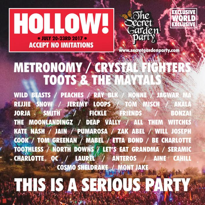 Image result for secret garden party 2017 lineup