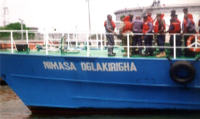 One of the gunboats acquired by NIMASA to curb sea piracy along Bonny River