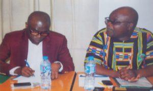 Prof Abiodun Ilesanmi and SPDC Regional Manager of Community Health, Dr Babatunde Fakunle, during  5 years celebration of Obio Cottage Hospital at Novotel  Hotel, Port Harcourt, recently.     Photo:  Obina Prince Dele