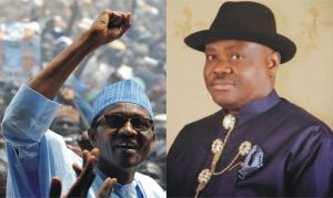 President-Elect, Gen Muhammadu Buhari (rtd) and Rivers State Governor-Elect, Barrister Nyesom Wike