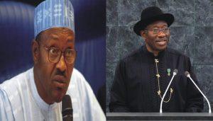 Muhammadu Buhari and Goodluck Jonathan