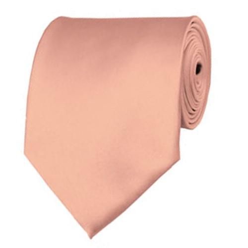 Light Salmon Neckties Solid Color Ties