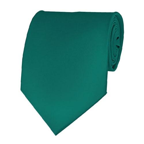 Teal Green Neckties Solid Color Ties