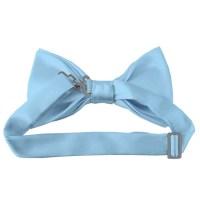 Solid powder blue bow tie - Satin - Pre-Tied - Wholesale ...