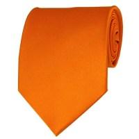 Orange Neckties Solid Color Ties - Stanard Adult Size ...