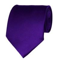 Dark Purple Neckties Solid Color Ties - Stanard Adult Size ...