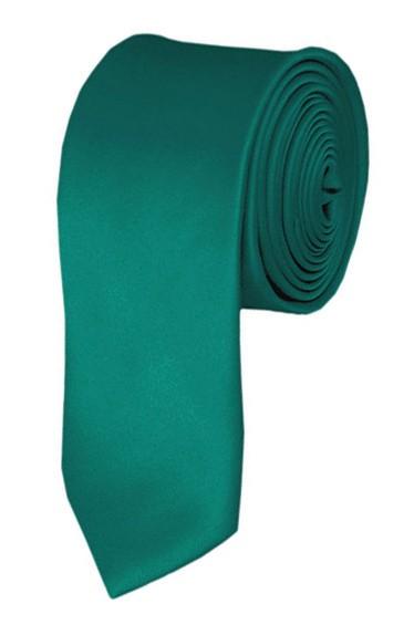 Skinny teal green ties