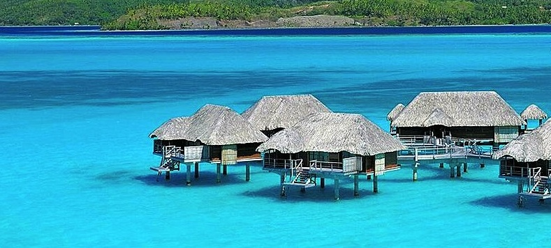 overwater bungalows in the